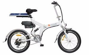 Bicicleta eléctrica solar lumisolar (incluye cargador