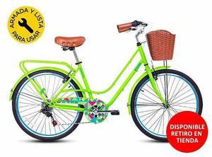 Bicicleta paseo city avenue p/mujer - marca best gama aro 26