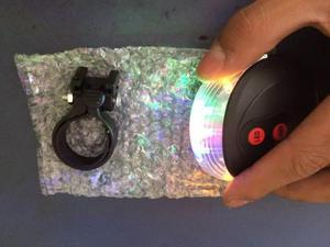 Luz luces led laser para bicicletas con separador colores