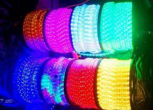Manguera luces led 100 metros decoración eventos p/oferta