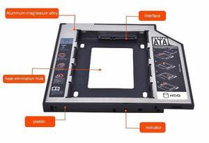 competitive price df0b8 47a58 Caddy adaptador case laptop 2do disco ssd o sata 3.0 12.7mm