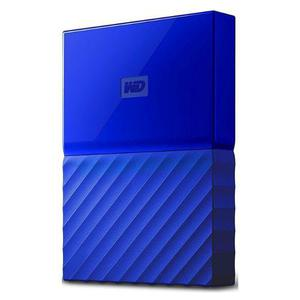 Disco duro externo wd my passport, 2 tb, usb 3.0 azul (p)