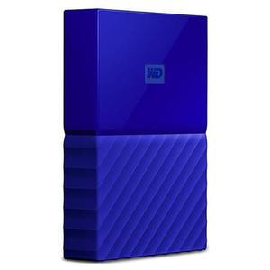 Disco duro externo wd my passport, 3 tb, usb 3.0 azul (c)