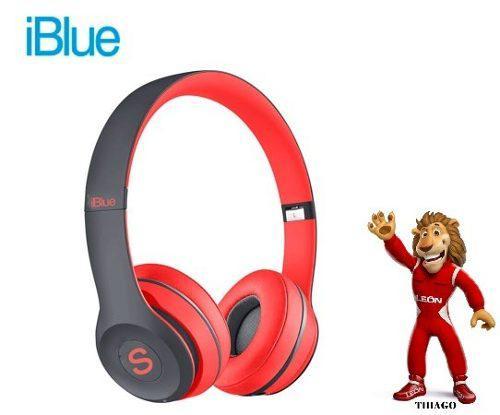 Audifono c/microf. iblue scream s019 bluetooth/fm/micro sd b
