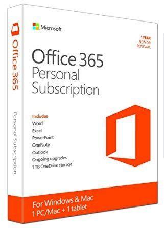Microsoft Office 365 Para 1pc/mac + 1 Tableta