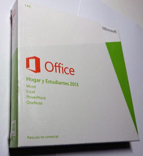 Microsoft office hogar y estudiantes 2013 retail sellado