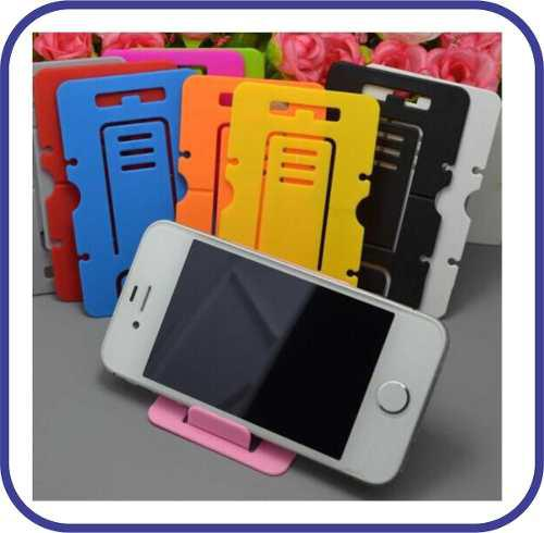 2 x 1 soporte plegable celular iphone samsung holder