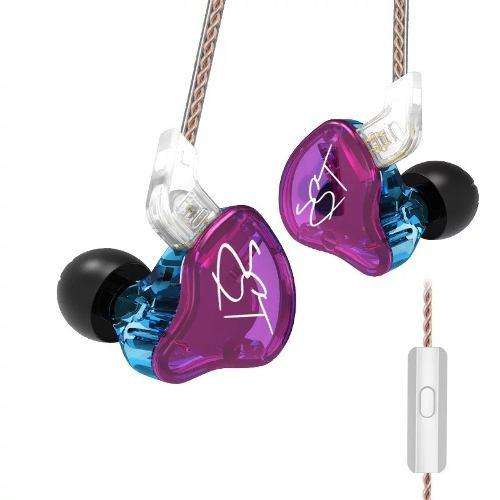 Audifonos kz zst pro hifi cable desmontable trenzados mic
