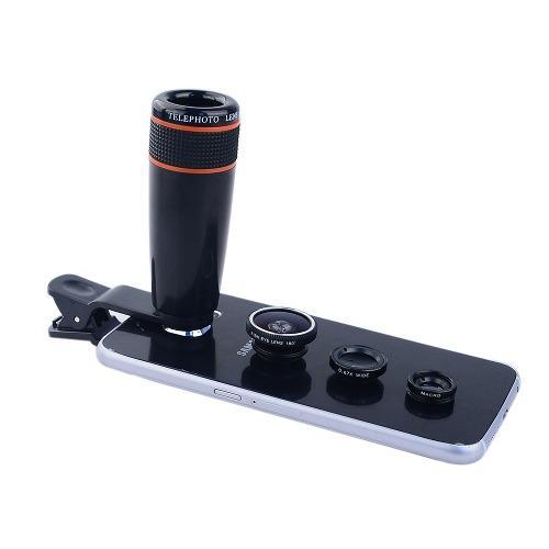 Telescopio celular 12x,4 lentes en 1