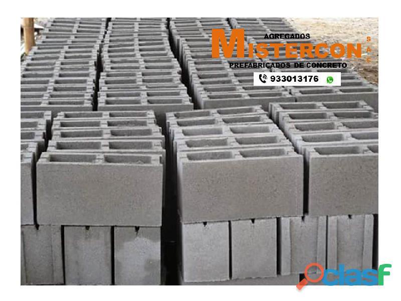 Bloque liso de concreto prefabricado