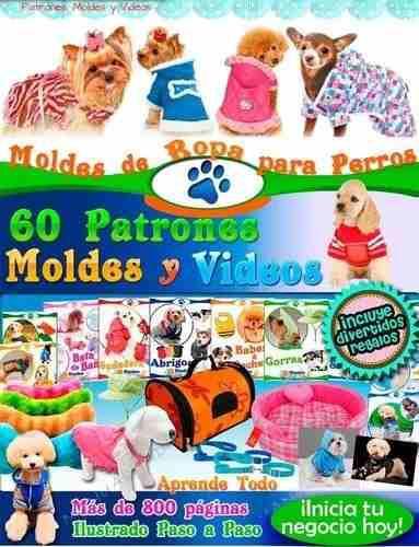 Mega kit moldes y patrones de ropa para perros 2018