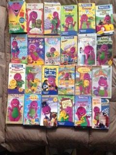 24 videos vhs coleccion barney y sus amigos niños original