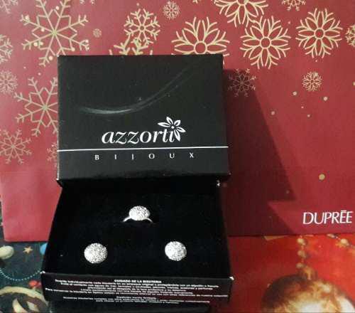 b60e91ad49d8 Estuche diamond de dupree original anillo + aretes!