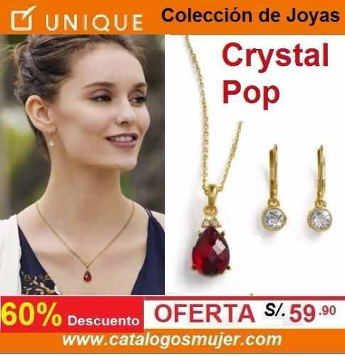 18787e756612 Joyas unique colección cristal pop (collar+aretes) sellada
