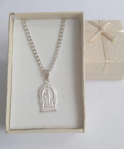 Medalla unisex señor de los milagros de plata 950.-