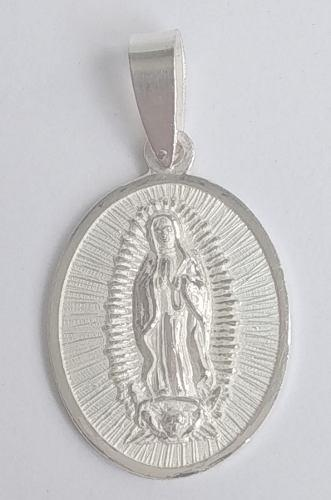 Medalla unisex virgen de guadalupe - plata 950.-