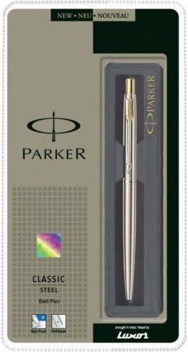Parker classic acero inoxidable de adorno de oro