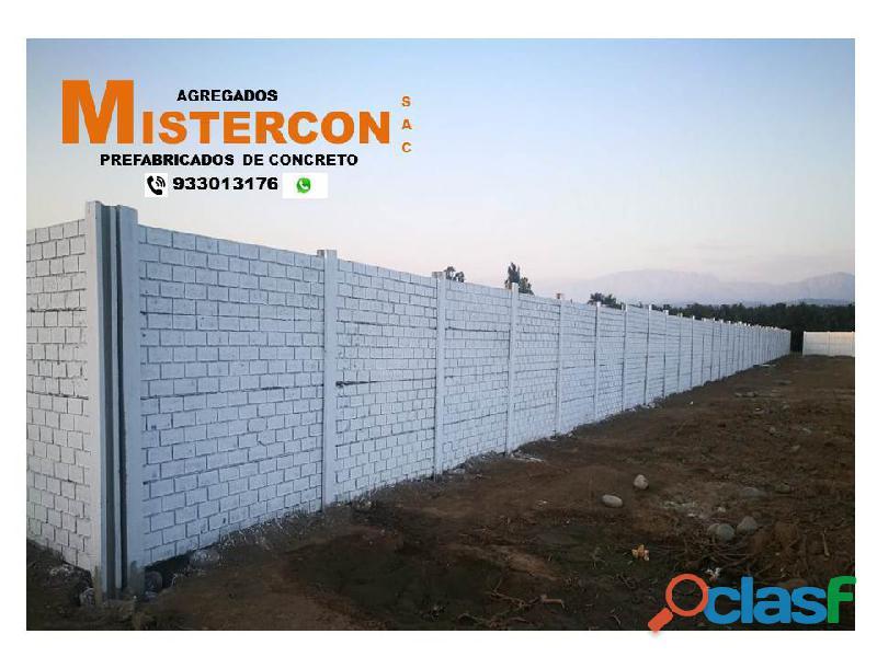 Fabricación de cercos perimetricos de concreto