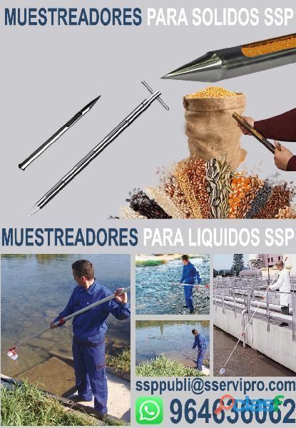 Muestreadores / caladores para sólidos y aguas de acero inoxidable
