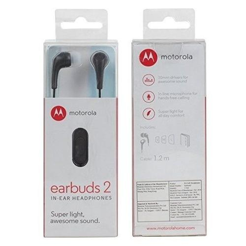 Audifonos manos libres motorola earbuds 2 moto g5 g4 g3 z