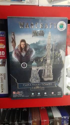 CASTILLO DE WARCRAFT KARAZHAN TOWER. PUZZLE 3D segunda mano  Arequipa (Arequipa)