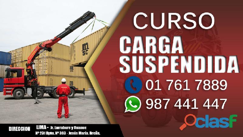 Curso de manejo de carga suspendida