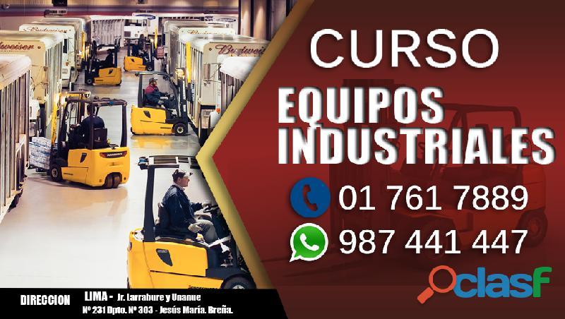 Curso de manejo de equipos industriales