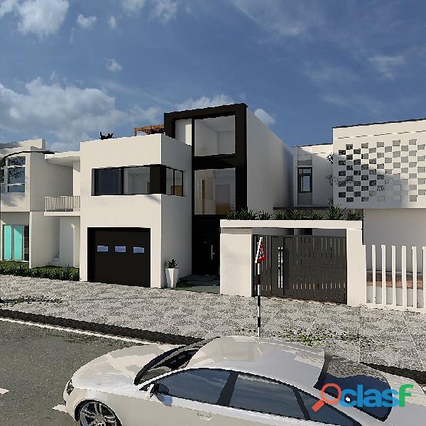 Venta de casa en planos de tres pisos en cajamarca   frente del colegio davy college