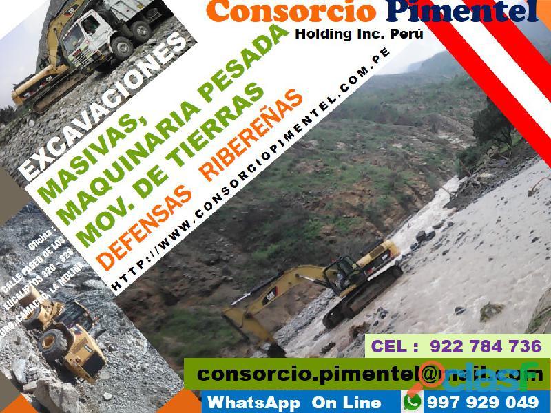 Obras de Reconstrucción Emergencia   Maquinaria PERU 2019