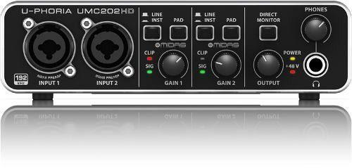 Interfaz de audio behringer umc202hd + garantía + envio