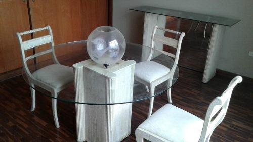 Muebles de comedor... hogar... mesa- 6 silla y aparador