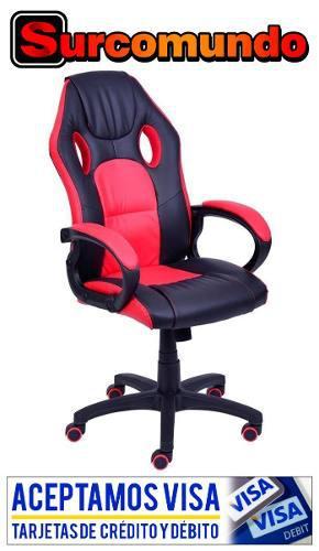 Silla oficina / gamer z-501 roja y negra en oferta ! en Lima ...