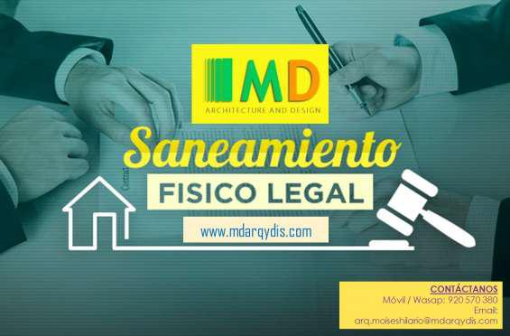Saneamiento fisico legal de bienes inmuebles en Lima