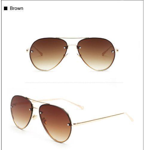 100aef0a9e Gafas de sol hombres/mujer, diseño aviador lentes de sol