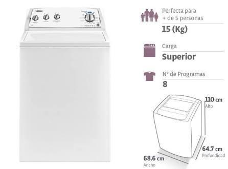 Lavadora whirlpool-15kg americana nuevo en caja oferta