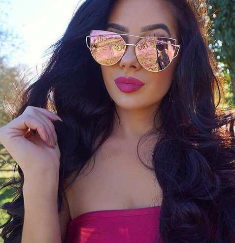 nueva productos dc1e6 f1c63 Lentes De Sol Oro Rosa Para Mujer Ojo De Gato Verano 2019