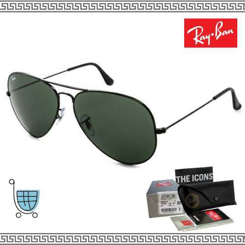 e82fb42938 Lentes de sol ray ban rb3025 aviador originales