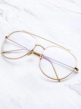 Lentes gafas modelo aviador transparentes sin medida unisex