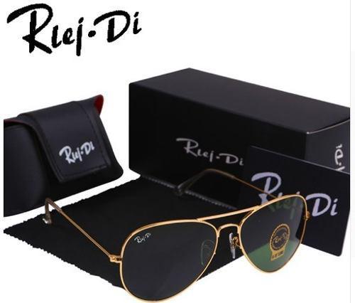 8fb44cd7a7 Lentes hd sol rlei di + estuche + paño + caja gafas rayban