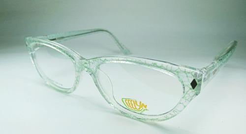 70c79ee5b2 Lentes medida monturas acetato transparente con trazos verde
