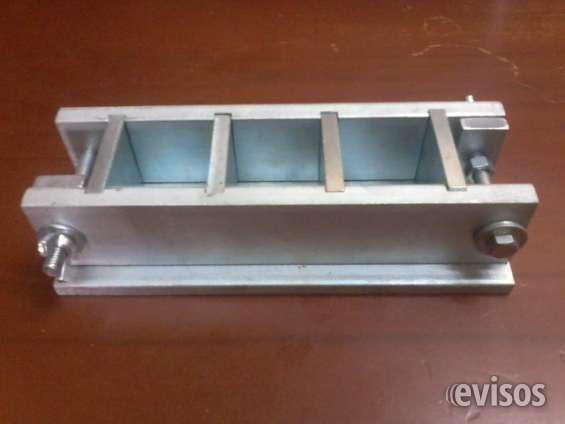 Moldes cubicos o triplecubo para mortero grout de 5x5x5cm en