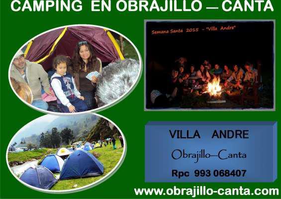 Camping en obrajillo canta a solo 2 horas de lima, por fin
