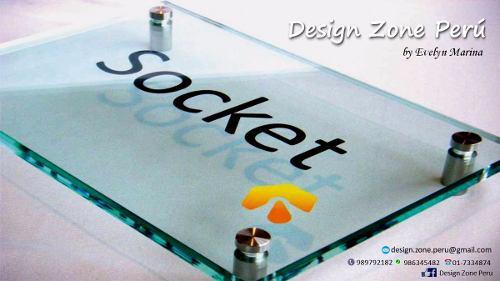 Letreros en vidrio y logos corporativos 3d