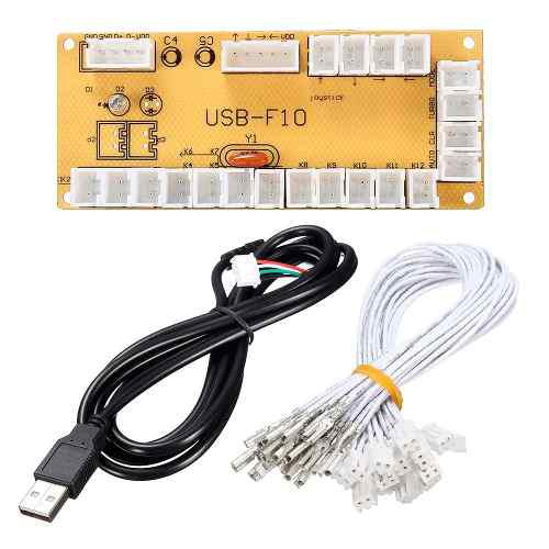 Placa Interfase Usb Zero Delay Para Control Arcade