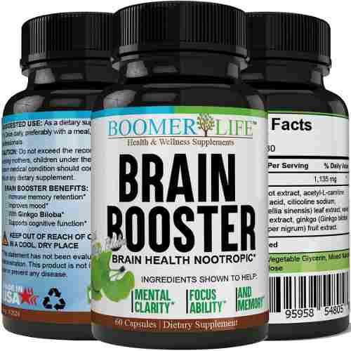 Brain Booster Nootropico Claridad Memoria Enfoque De Eeuu