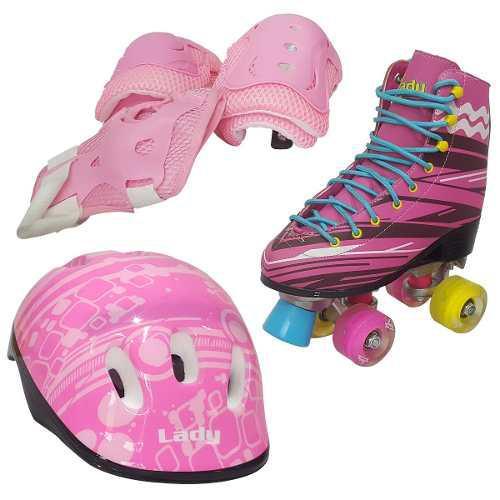 Roller skate modelo luna, talla 32-38 patines 4 ruedas