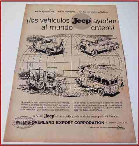 Dante42 Publicidad Antigua Retro Auto Jeep 1958