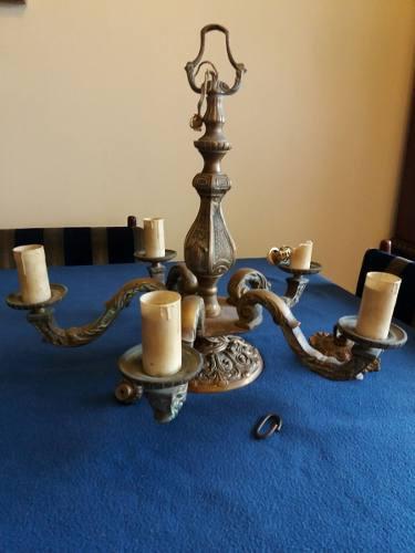 Lámpara en bronce (tipo araña) vintage