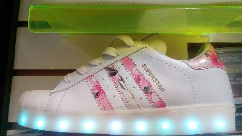 Zapatillas Con Luces Led Control Remoto Todas Las Tallas