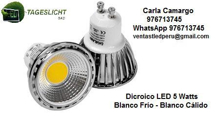 Dicroico led 5 watts blanco frío